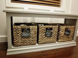 incredible entryway table with shoe storage by 11925