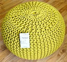 large stylish modern foot stool pouffe seat knitted cotton