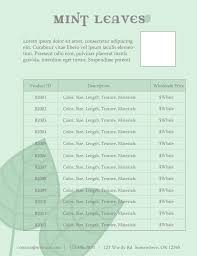 Wholesale Price Sheet Template Price Sheet For Line Sheet Or Wholesale Catalog Template Add