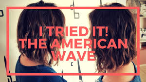 the american wave hair style i tried it american wave all things fadra youtube