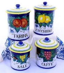 italian canisters kitchen 29 best canisters and vases images on canisters