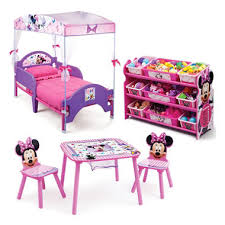 minnie mouse bedroom set delta children minnie mouse 3 piece toddler canopy bedroom set