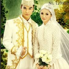 muslim and groom custom muslim wedding dresses for men and women dress kaftan abaya