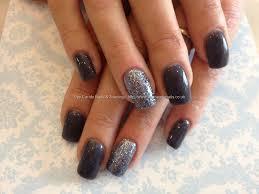 eye candy nails u0026 training acrylic nails with dark grey gel