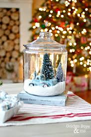 holiday home tour 2014 diy snow globe globe and glass cookie jars