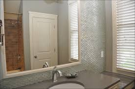 foxy bathroom mosaic wall tiles with delectable big mirror set