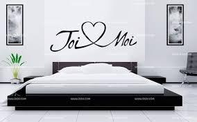 stickers ecriture chambre tête de lit toi et moi