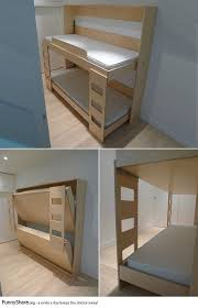 Build Bunk Bed Attractive Murphy Bunk Bed Tucked Away Beds Within Plans