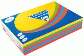 fourniture de bureau pas cher ramette papier couleurs a4 80g clairefontaine coloris assortis
