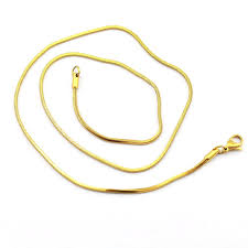 side snake necklaces gold color stainless steel uk style trendy