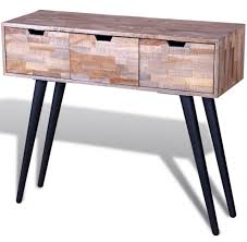 vintage style console table vintage console table hall hallway living room retro style furniture