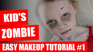 Good Makeup Ideas For Halloween by Halloween Makeup Tutorial Kids Zombie Makeup Youtube