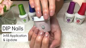 new gelish dip nails infill application u0026 update gelish dip