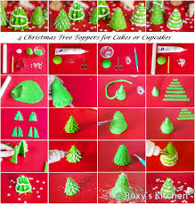 christmas tree toppers for cakes or cupcakes roxy u0027s kitchen