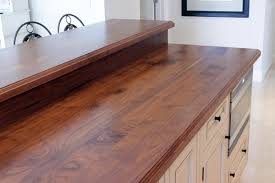Counter Bar Top Walnut Counter With Raised Bar Top And Backsplash Http Www