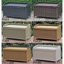 Outdoor Wood Storage Bench Plans by Outdoor Waterproof Storage Bench Foter