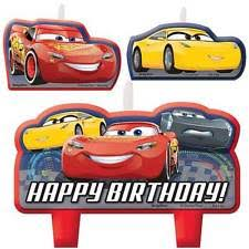cars cake toppers disney cars 3 mini candles set boy birthday party supplies cake