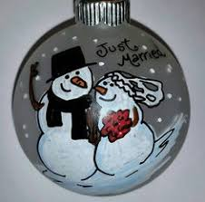 Personalized Ornaments Wedding Snowman Ornament Runner Walker Marathon Fitness Hand Painted