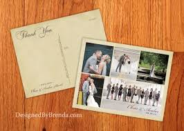 vintage wedding thank you postcards with photos