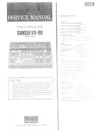 sansui vx 99 service manual immediate download