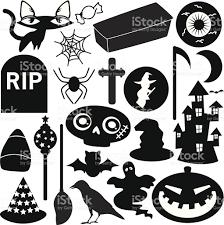 halloween silhouette vector silhouette halloween festival theme design elements stock vector