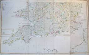 Map Of Wales And England by Original Large Scale Antique Folded Map Of England And Wales By