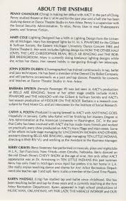 Social Security Research Paper Ann Arbor Civic Theatre Program Anything Goes December 18 1985