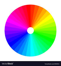 color or colour color wheel with shade of colors colour spectrum vector image