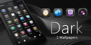 dark go launcher theme android apps on google play