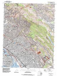 Map Of Oakland Oakland East Topographic Map Ca Usgs Topo Quad 37122g2