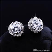 big diamond earrings new arrival best friends 18k white gold plated earings big diamond