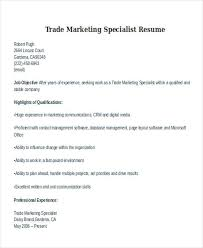 Marketing Resume Template 100 Marketing Specialist Resume Professional Product Specialist