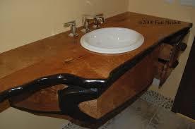 bathroom vanity countertops ideas bathroom appealing hammered metal sink on wooden bathroom vanity