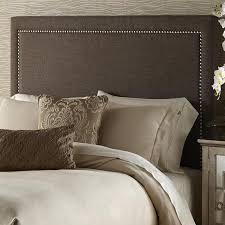 upholstered brown queen headboard