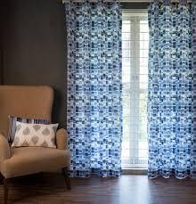 brush stroke cubes blue custom curtain u2013 thoppia
