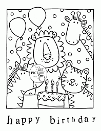 happy birthday zoo coloring kids holiday coloring