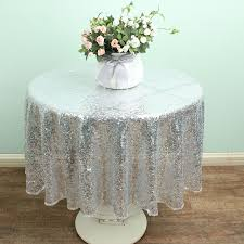 silver lace table overlay 48 round silver sparkly sequin table overlay glitter linen