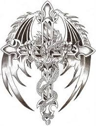 dragon around celtic cross tattoo ideas pinterest dragons