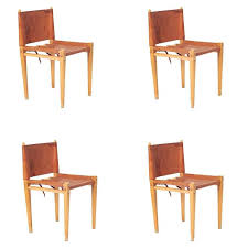 Italian Leather Dining Chairs Mid Century Italian Leather And Wood Dining Chairs By Zanotta For