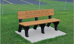 memorial benches memorial classic engraved benches kirbybuilt products