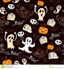 seamless halloween background seamless halloween with ghosts pumpkins stock photo image 35625130