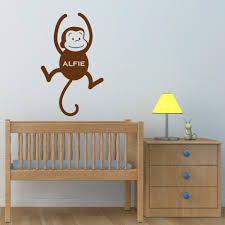popular baby monkey names buy cheap baby monkey names lots from personalised name on monkey wall sticker custom baby name wall decals removable vinyl wall stickers for