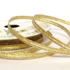 metallic gold ribbon 3mm sparkly gold ribbon wedding