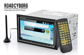 win player android road cyborg 6 95 dual os car dvd player android 2 3 win ce