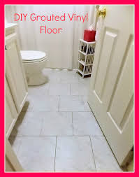 diy grouted vinyl floor reveal and tutorial parrish place