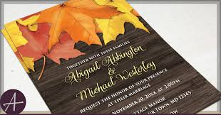 autumn wedding invitations wedding invitations fall new rustic autumn wedding invitations
