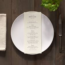 wedding menu calligraphy menus for rustic outdoor or quirky