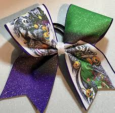 skellington ribbon skellington cheer bow nightmare before
