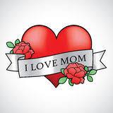 heart roses tattoo stock vector image 41497953
