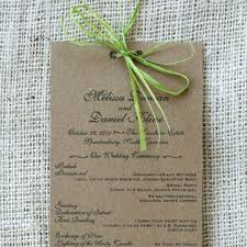 kraft paper wedding programs kraft paper sofia invitations
